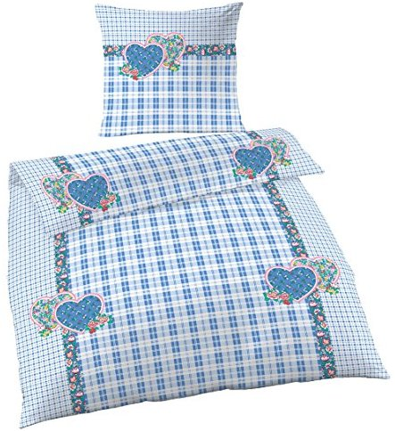 h bsche bettw sche aus renforc blau 135x200 von ido bettw sche. Black Bedroom Furniture Sets. Home Design Ideas