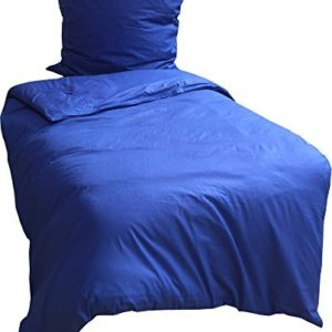 Schöne Bettwäsche aus Renforcé - blau 135x200 von Leonado Vicenti