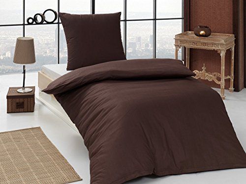 h bsche bettw sche aus renforc braun 155x220 von bettenpoint bettw sche. Black Bedroom Furniture Sets. Home Design Ideas