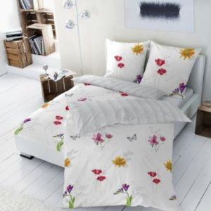 Schöne Bettwäsche aus Renforcé - grau 155x220 von Betz