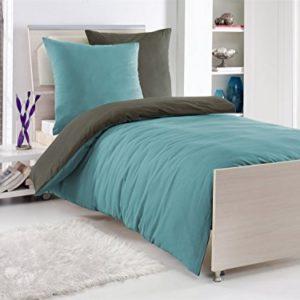Traumhafte Bettwäsche aus Renforcé - grau 155x220 von Wasserbetten-Markenshop