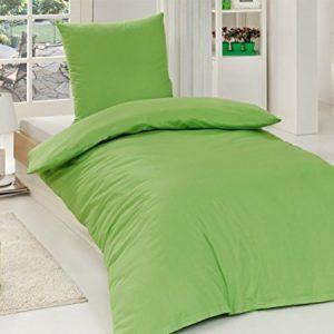 Traumhafte Bettwäsche aus Renforcé - grün 135x200 von Bettenpoint