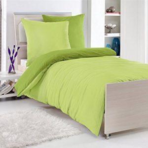 Traumhafte Bettwäsche aus Renforcé - grün 135x200 von optidream