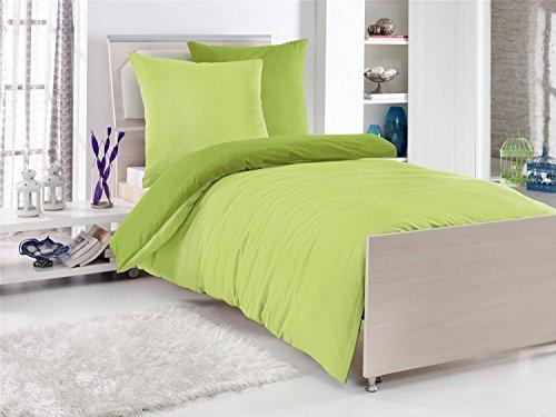 sch ne bettw sche aus renforc gr n 135x200 von. Black Bedroom Furniture Sets. Home Design Ideas