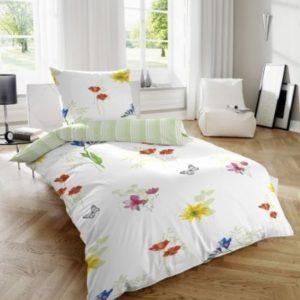 Schöne Bettwäsche aus Renforcé - grün 155x220 von Betz