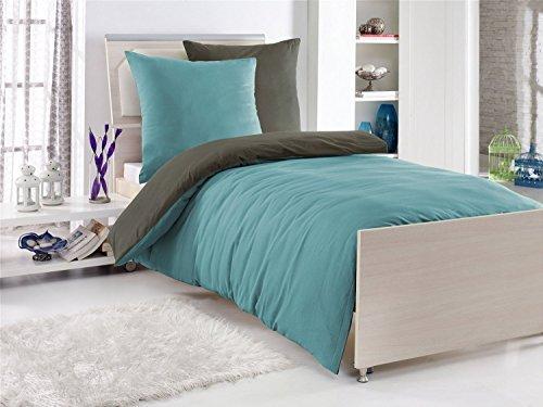 Kuschelige Bettwäsche aus Renforcé - petrol 135x200 von optidream