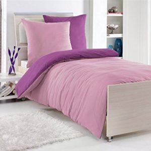 Schöne Bettwäsche aus Renforcé - Rosen rosa 135x200 von optidream