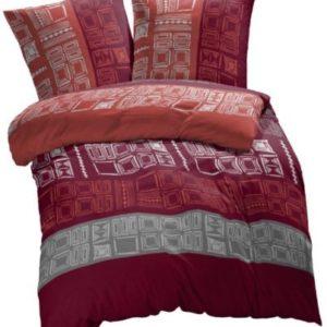 Kuschelige Bettwäsche aus Renforcé - rot 135x200 von Etérea