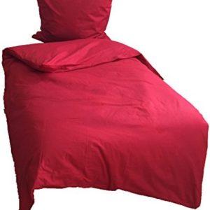 Kuschelige Bettwäsche aus Renforcé - rot 135x200 von Leonado Vicenti