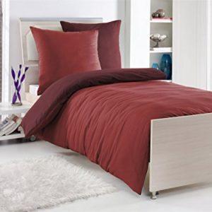 Schöne Bettwäsche aus Renforcé - rot 135x200 von optidream