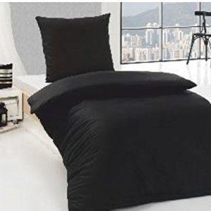 Schöne Bettwäsche aus Renforcé - schwarz 155x220 von Bettenpoint