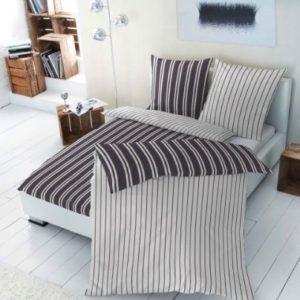 Hübsche Bettwäsche aus Renforcé - schwarz 155x220 von Primera