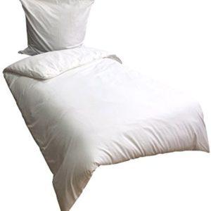 Schöne Bettwäsche aus Renforcé - weiß 135x200 von Leonado Vicenti