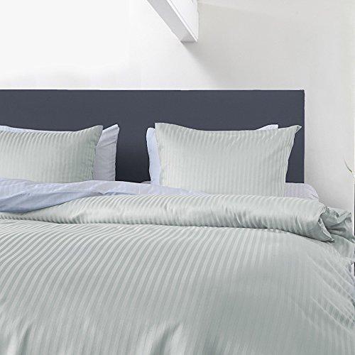 kuschelige bettw sche aus satin blau 135x200 von hnl bettw sche. Black Bedroom Furniture Sets. Home Design Ideas
