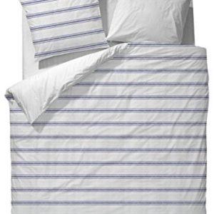 Kuschelige Bettwäsche aus Satin - blau 135x200 von Marc O'Polo HOME