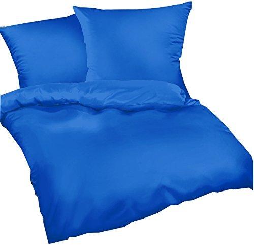 kuschelige bettw sche aus satin blau 155x220 von carpe. Black Bedroom Furniture Sets. Home Design Ideas