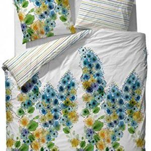 Kuschelige Bettwäsche aus Satin - blau 155x220 von Vanezza