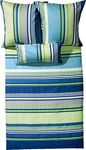 Hübsche Bettwäsche aus Satin - blau 200x200 von Erwin Müller