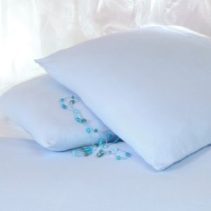 Schöne Bettwäsche aus Satin - blau 220x240 von Carpe Sonno