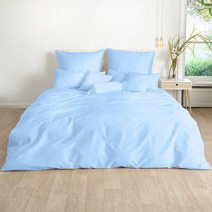 Hübsche Bettwäsche aus Satin - blau 220x240 von Traumschlaf