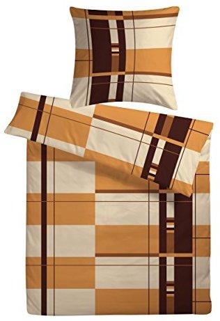 Schöne Bettwäsche aus Satin - braun 155x220 von Carpe Sonno