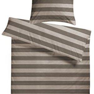 Kuschelige Bettwäsche aus Satin - braun 155x220 von Carpe Sonno