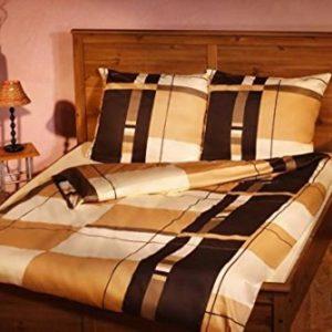 Schöne Bettwäsche aus Satin - braun 200x200 von Bettwaren-XXL
