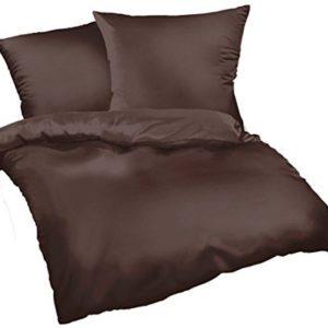 Traumhafte Bettwäsche aus Satin - braun 200x200 von Bettwaren-XXL