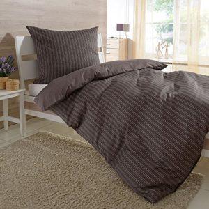 Hübsche Bettwäsche aus Satin - braun 200x200