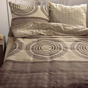 Schöne Bettwäsche aus Satin - braun 220x240 von Bettwaren-XXL