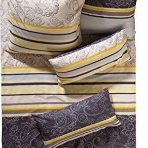 Schöne Bettwäsche aus Satin - gelb 135x200 von Erwin Müller