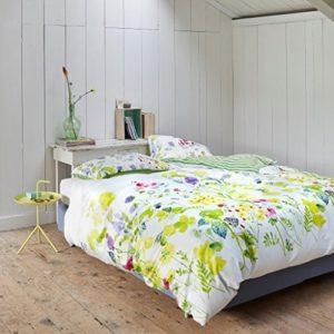 Traumhafte Bettwäsche aus Satin - gelb 135x200 von Vanezza