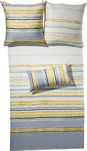 Hübsche Bettwäsche aus Satin - gelb 155x200 von Erwin Müller