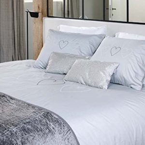 Hübsche Bettwäsche aus Satin - grau 135x200 von Aminata
