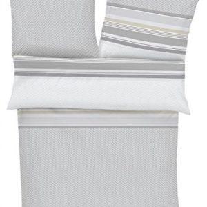 Kuschelige Bettwäsche aus Satin - grau 135x200 von Ibena