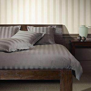 Kuschelige Bettwäsche aus Satin - grau 155x200