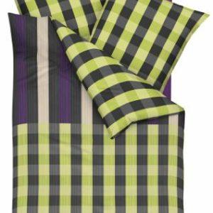 Schöne Bettwäsche aus Satin - grün 135x200 von Kaeppel