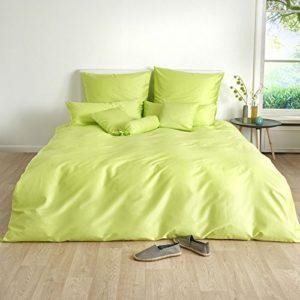 Schöne Bettwäsche aus Satin - grün 135x200 von Traumschlaf