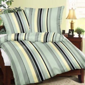 Hübsche Bettwäsche aus Satin - grün 155x220 von Carpe Sonno