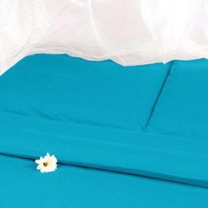 Hübsche Bettwäsche aus Satin - petrol 135x200 von Carpe Sonno