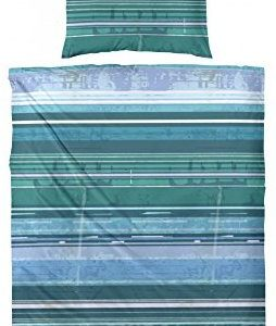 Kuschelige Bettwäsche aus Satin - petrol 135x200 von Hahn
