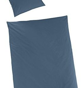 Hübsche Bettwäsche aus Satin - petrol 155x220 von Hahn Haustextilien