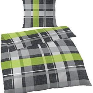 Hübsche Bettwäsche aus Satin - schwarz 135x200 von Ido