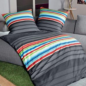 Schöne Bettwäsche aus Satin - schwarz 135x200 von Janine