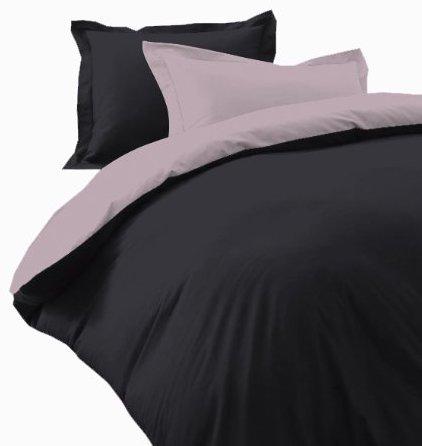 Hübsche Bettwäsche aus Satin - schwarz 155x200 von DILIOS