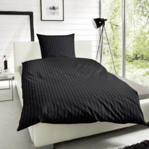 Schöne Bettwäsche aus Satin - schwarz 155x220 von Primera