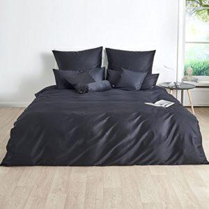 Schöne Bettwäsche aus Satin - schwarz 220x240 von Traumschlaf