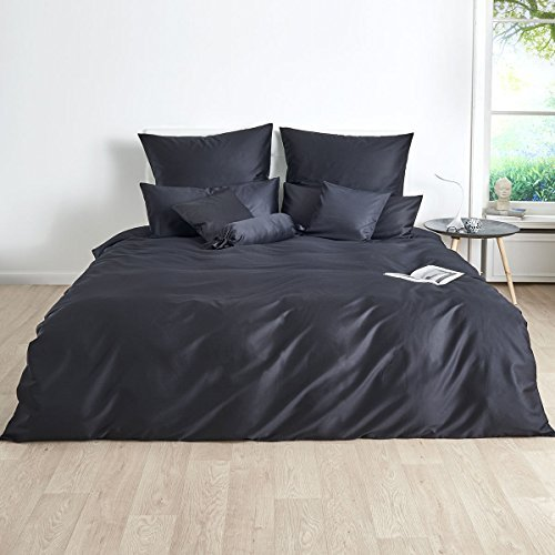 sch ne bettw sche aus satin schwarz 220x240 von. Black Bedroom Furniture Sets. Home Design Ideas