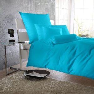 Schöne Bettwäsche aus Satin - türkis 135x200