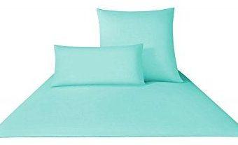 Schöne Bettwäsche aus Satin - türkis 135x200 von Yes for bed